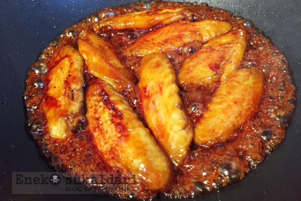 Alitas de pollo lumagorri picantes - Eneko sukaldari