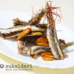 Anchoas fritas al ajillo - Eneko sukaldari