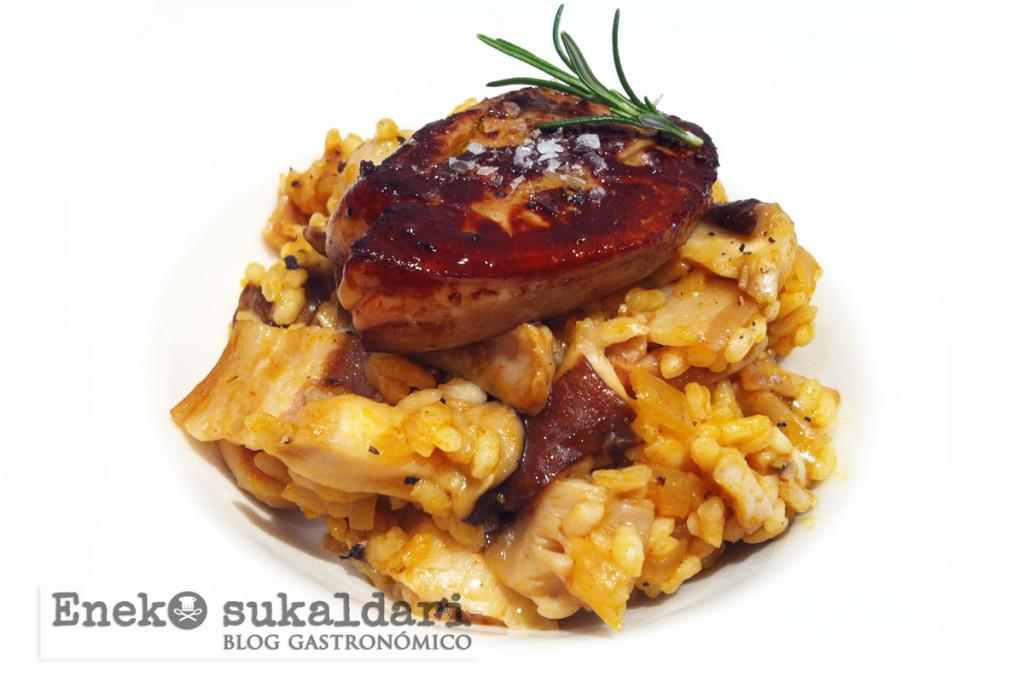 Arroz con setas y foie - Eneko sukaldari