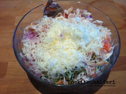 Bocadillo de pollo asado Telmo Zarra con wasabi