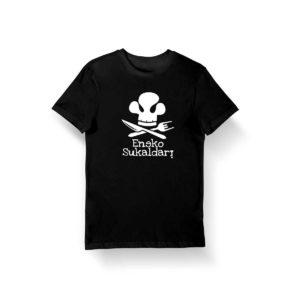 Camiseta Eneko sukaldari negra