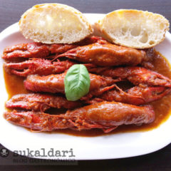 Cangrejos de río en salsa amama Puri versión 2.0