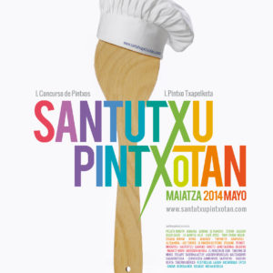 Cartel de Santutxu pintxotan
