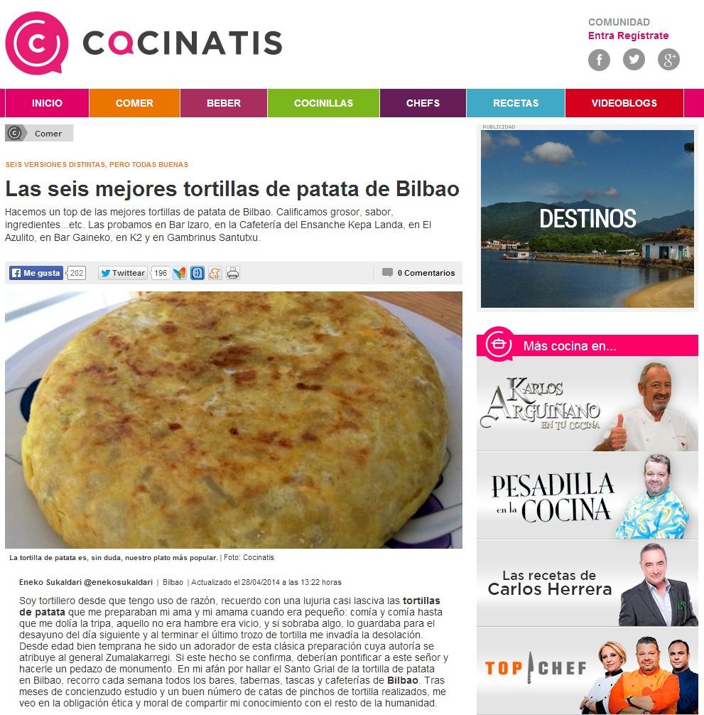 Cocinatis, gastronomia 2.0