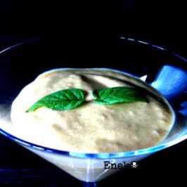 Crema de mango y menta