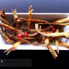 Espinas de anchoa fritas del Hotel Empordà de Figueres. Josep Mercader