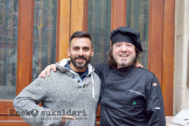Estanis Carenzo y Julen Prado Egia, chef del Arandia de Julen