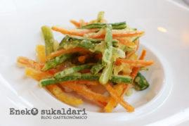 Verduras en fina tempura