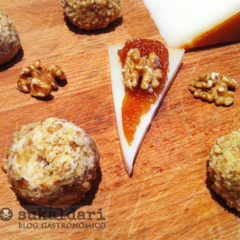 Gnoquis de queso Idiazabal con membrillo y nueces