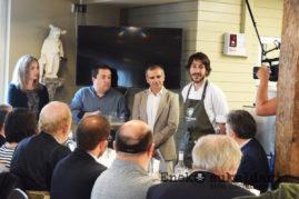 El cocinero Juanjo Roda, Gabriel quesada y Paul Ibarra