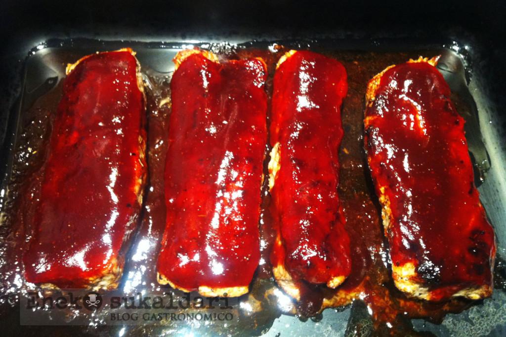 Lomo al horno con salsa barbacoa express