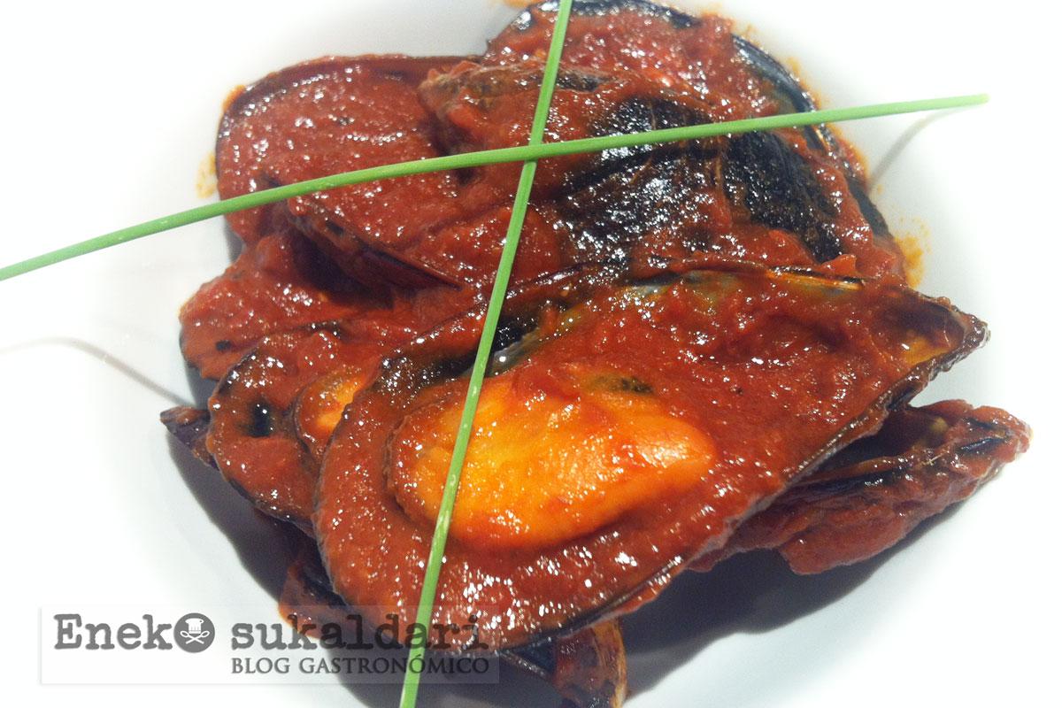 Mejillones en salsa picante for Cocinar mejillones en salsa