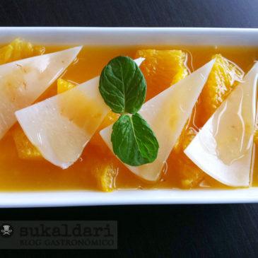 Naranjas con miel e Idiazabal
