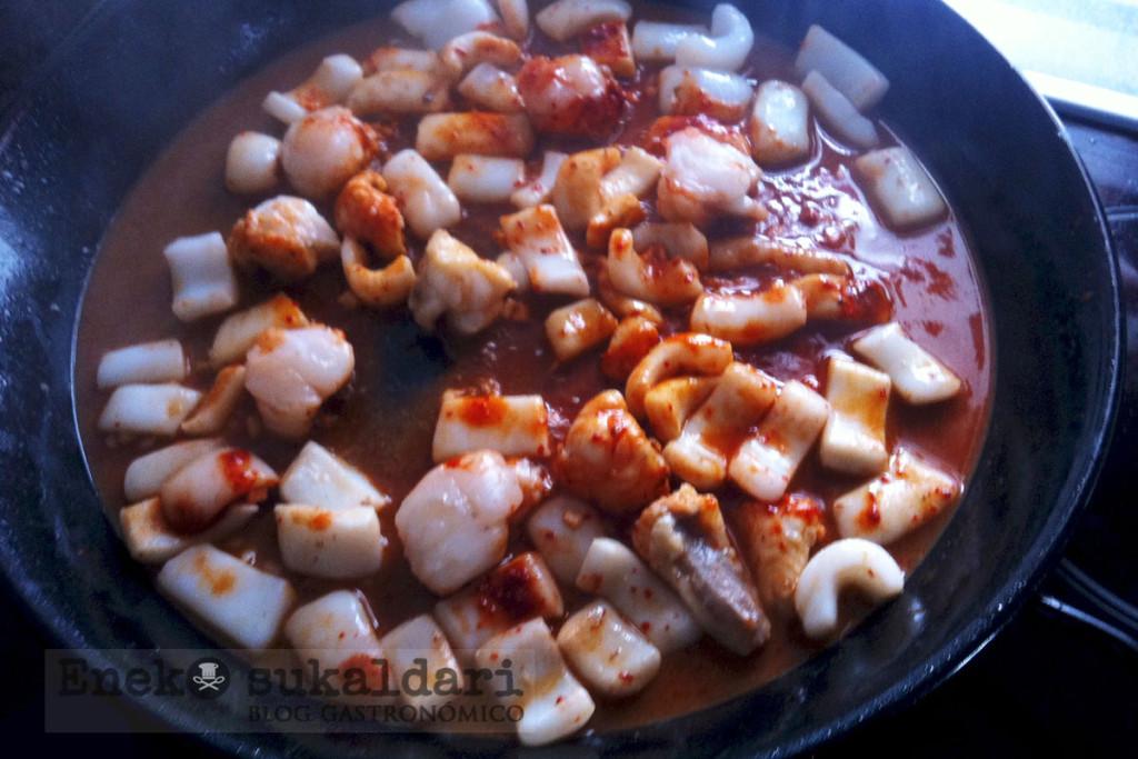 Paella de marisco - Eneko sukaldari