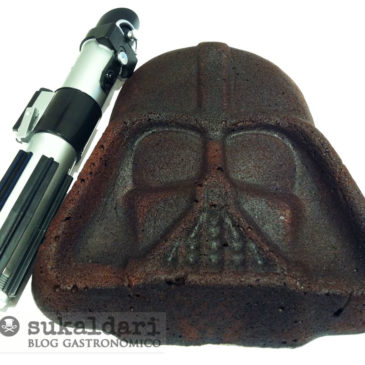 Pastel Darth Vader de chocolate