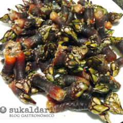 Percebes fritos
