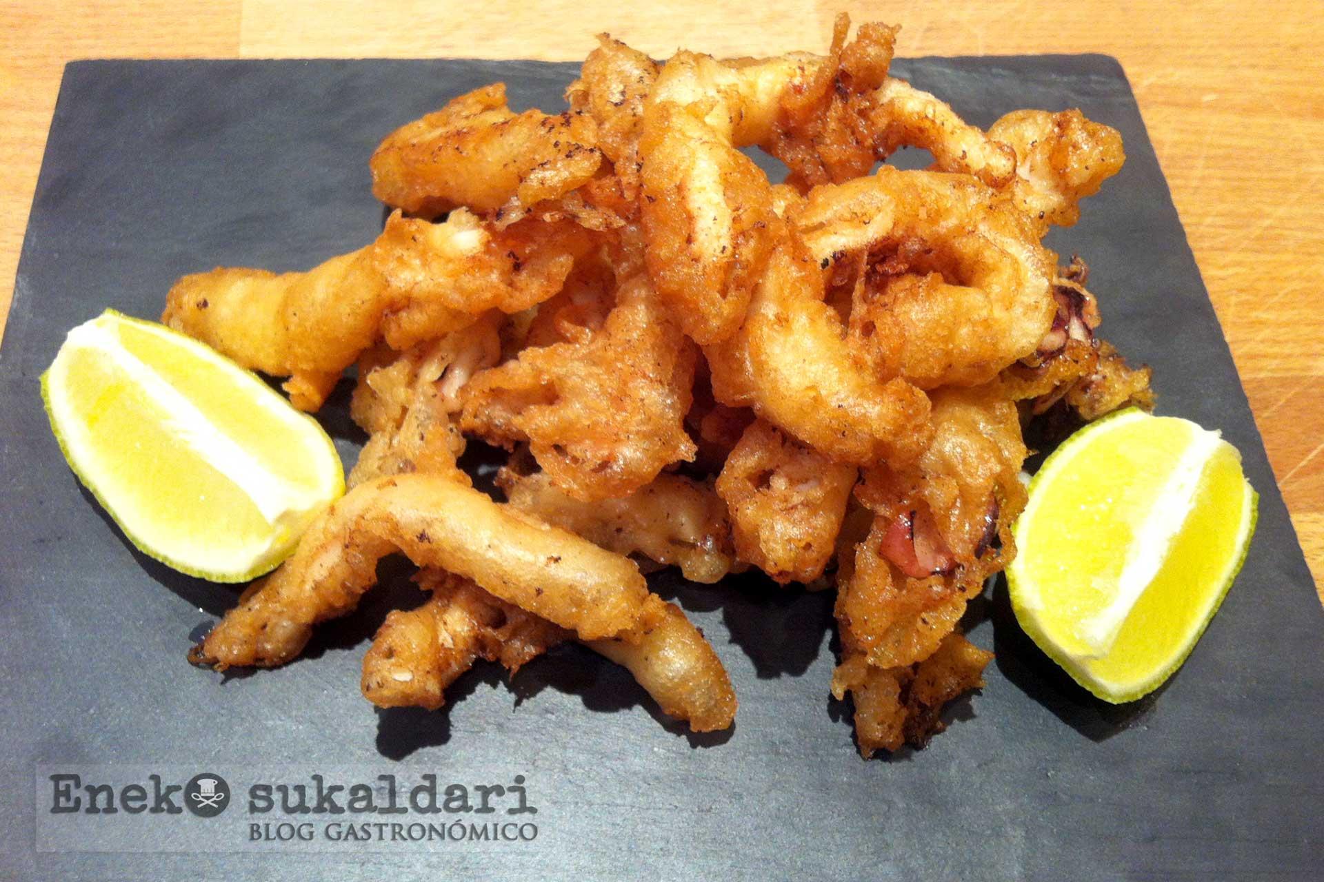 Rabas caseras de calamar - Receta paso a paso - Eneko sukaldari blog gastronómico
