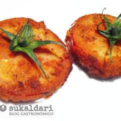 San jacobos de tomate Eusko Label rellenos de Idiazabal