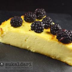 Tarta de queso sencilla al horno estilo La Viña - Eneko sukaldari