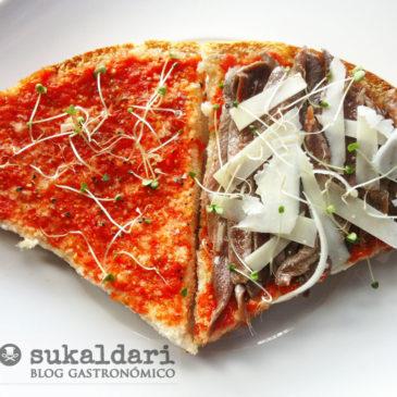 Tosta slow food de anchoa e Idiazabal