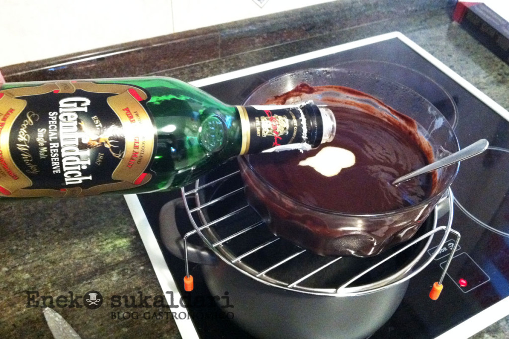 Trufas de chocolate al whisky