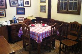 Comedor del jatetxe Zarrabenta